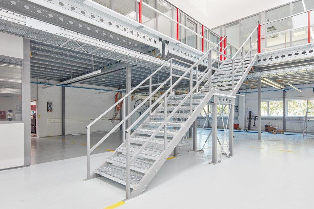 Mezzanines or multi-storey/tiered warehouse shelving systems